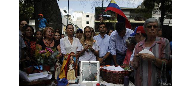 Lilian Tintori frente a protesta
