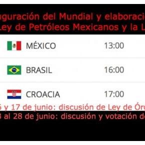 Empalman fechas de discusión de ley con partidos delmundial