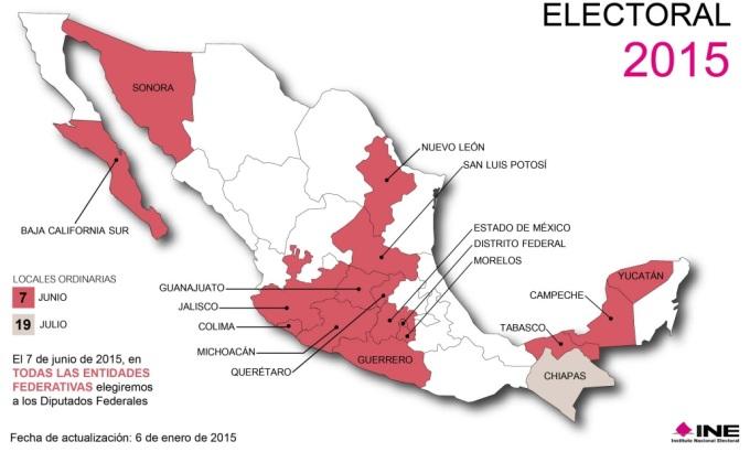 CALENDARIO ELECTORAL 2015 1