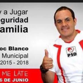 Cuauhtémoc Blanco para la presidencia deCuernavaca