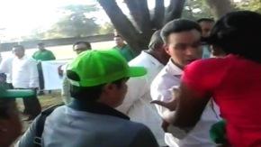 Manuel Velasco, gobernador de Chiapas abofetea a unasistente