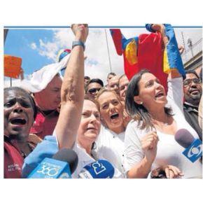 Tres mujeres toman riendas de oposición enVenezuela