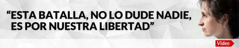 ESTA ES UNA BATALLA NO LO DUDE NADIE POR NUESTRA LIBERTAD