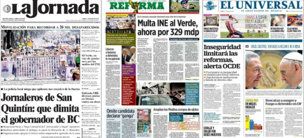 Titulares de prensa 11 de mayo