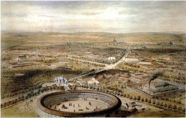 VISTA AEREA DE MADRID 1854