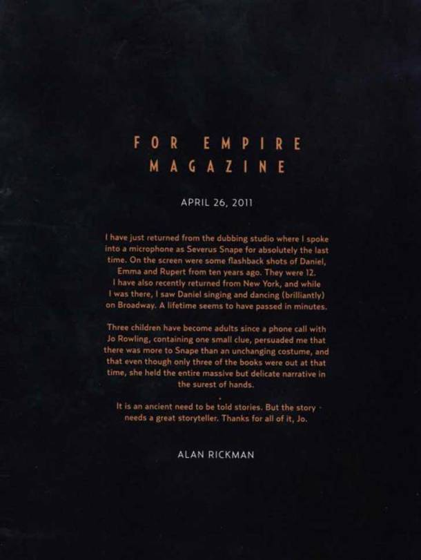Alan Rickman carta
