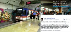 El Bronco cancela metro gratuito losdomingos