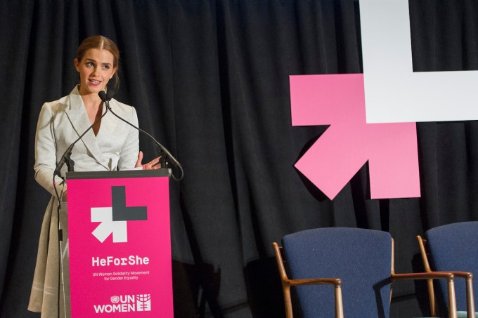 HeforShe event sponcered by UN Women with Goodwill ambasador Emma Watson
