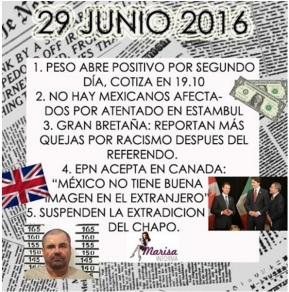 29 JUNIO: ASÍ LANOTICIA