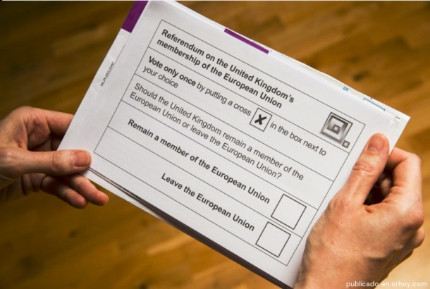 BOLETA DE VOTACION BREXIT